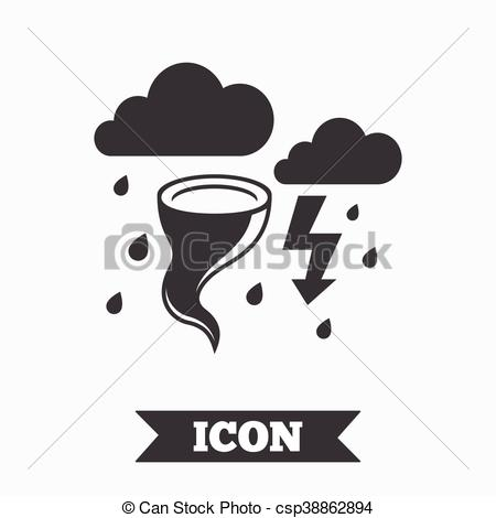 450x470 Storm Bad Weather Sign Icon. Gale Hurricane. Storm Bad Weather