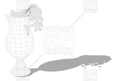 400x283 Abstract Hurricane Cocktail Glass Vector Image Vector Artwork Of