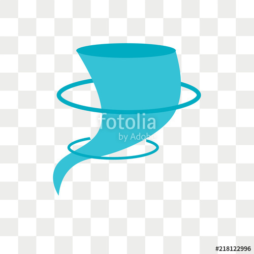 500x500 Hurricane Vector Icon Isolated On Transparent Background