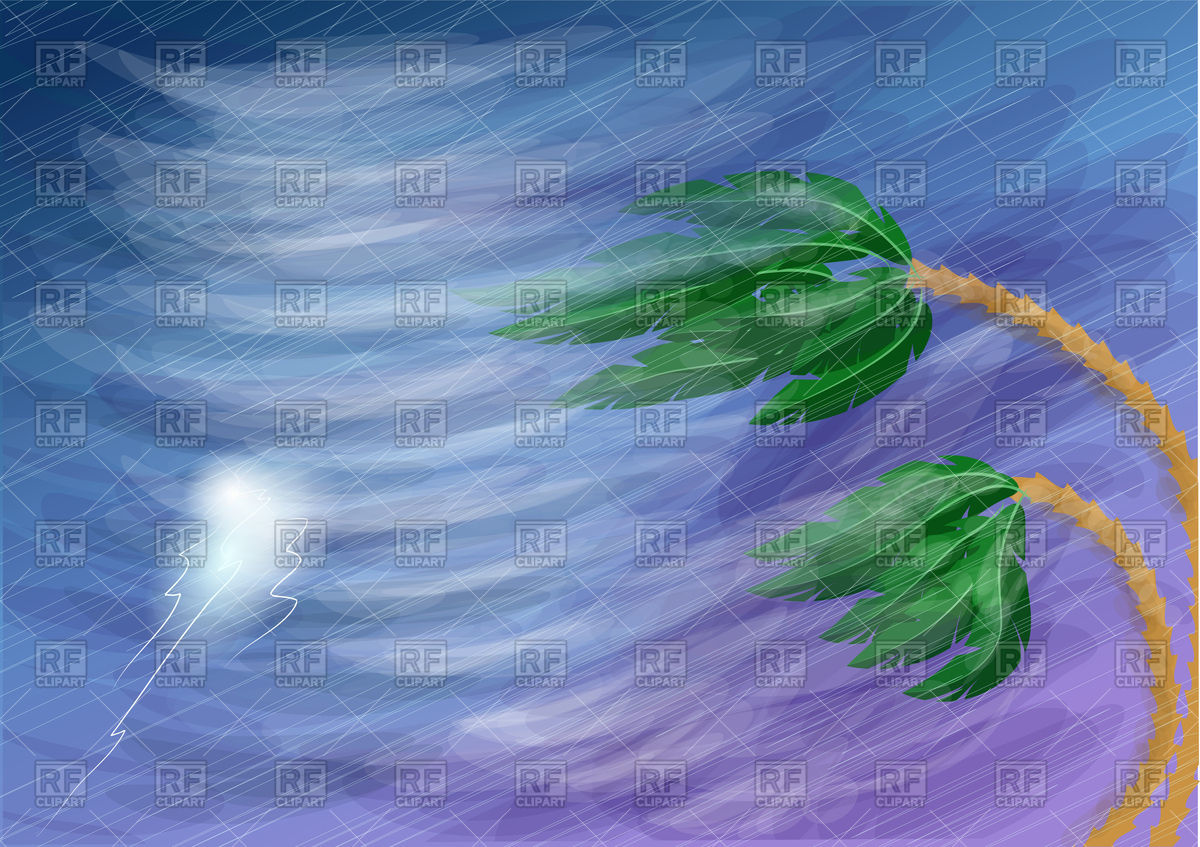 1200x847 Hurricane With Rain And Lightning Vector Image Vector Artwork Of