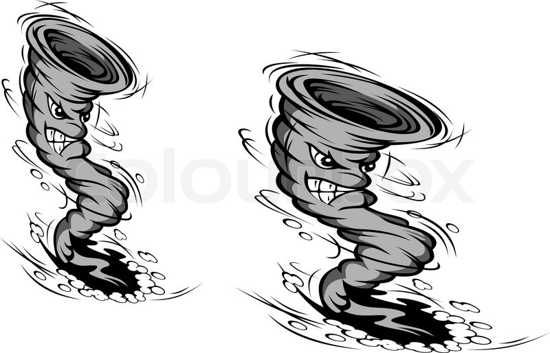 800x514 Danger Hurricane In Cartoon Style For Weather Or Disaster Design