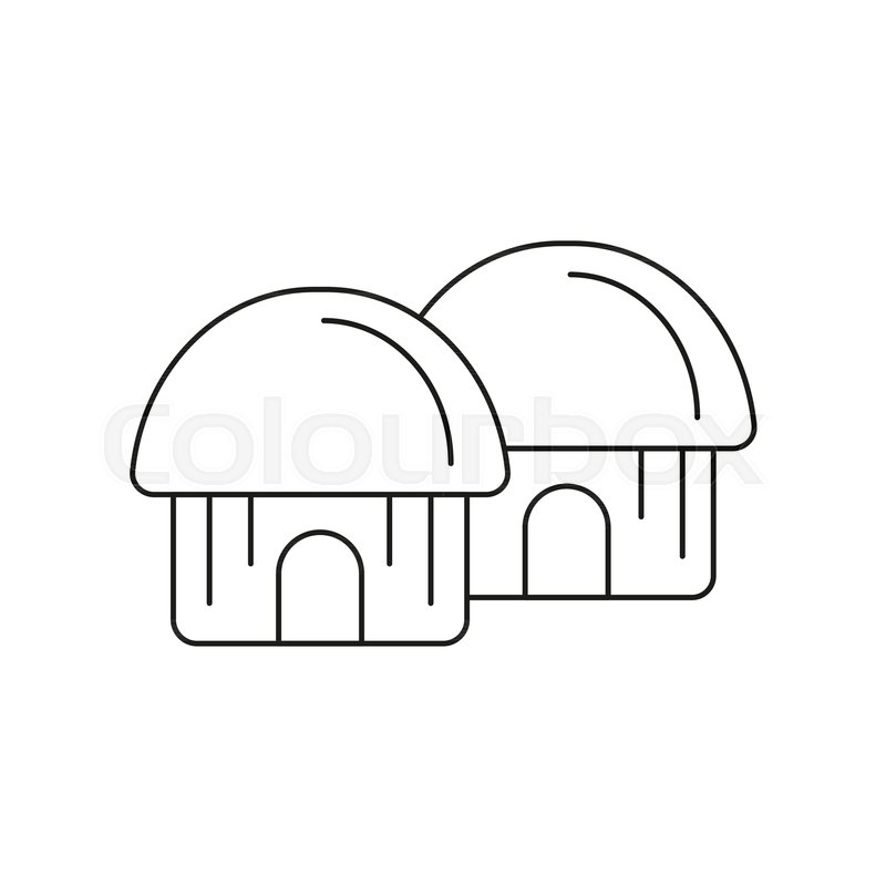 800x800 Hut Icon. Outline Hut Vector Icon For Web Design Isolated On White