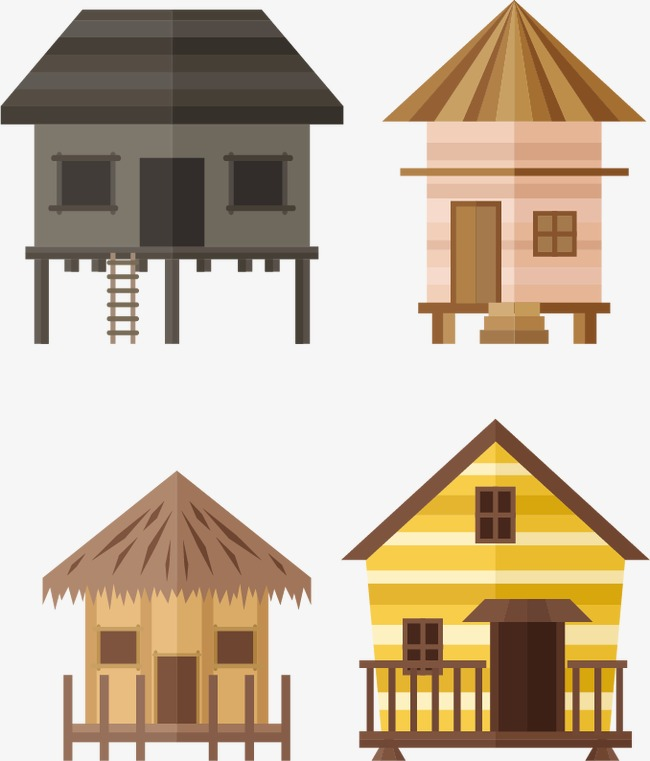 650x761 A Set Of Vector Hut, Vector, Cottage, Lifelike Png And Vector For