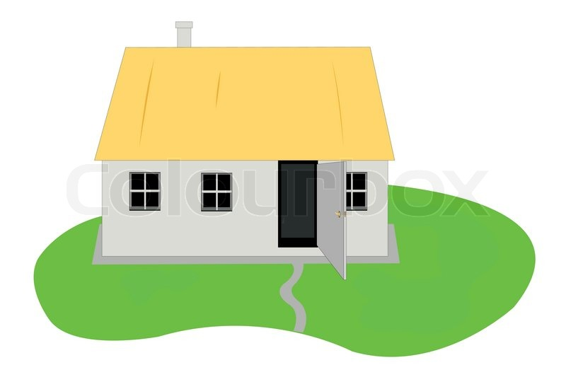 800x533 Vector Illustration Of Country Hut Stock Vector Colourbox