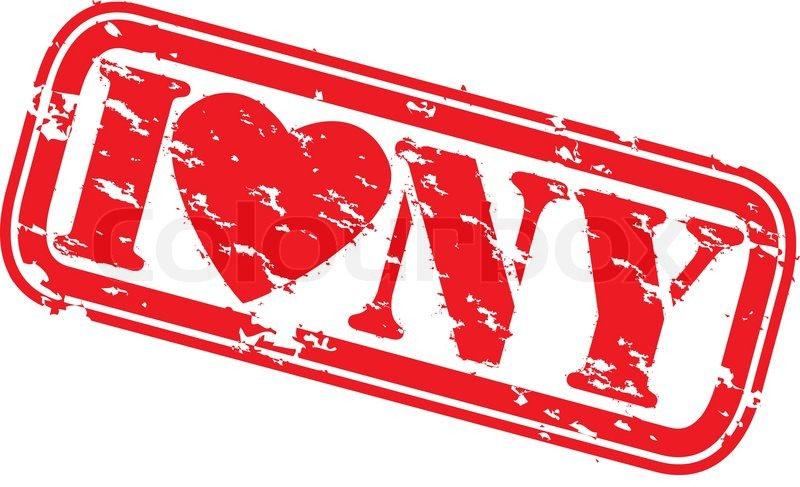 800x487 Grunge I Love New York Rubber Stamp, Vector Stock Vector Colourbox