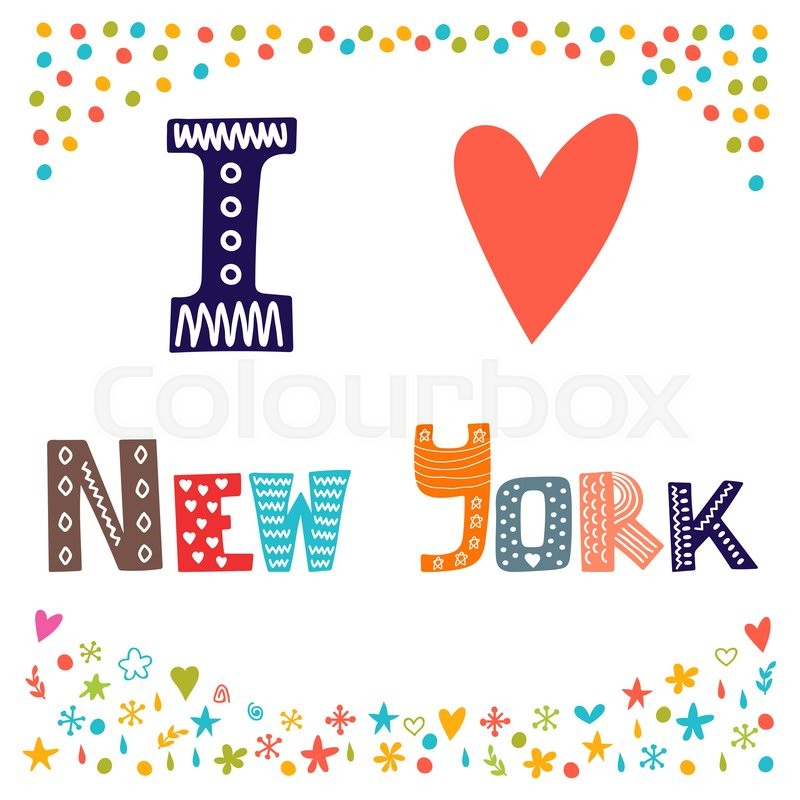 800x800 I Love New York. Cute Postcard. Greeting Card From New York