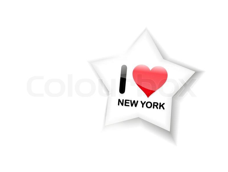 800x605 I Love New York Sign Stock Vector Colourbox