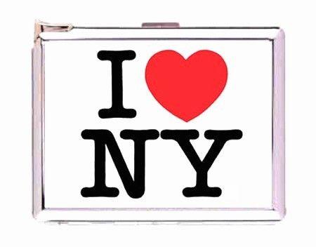 450x352 I Love Ny New York Double Sided Cigarette Lighter Case Money Clip
