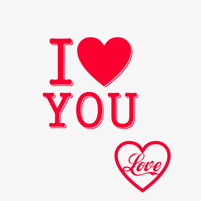 650x651 I Love You Wordart, Love Vector, Love, Red Love Png And Vector For