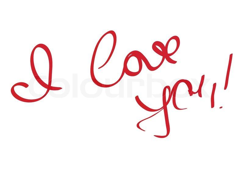 800x566 I Love You Message Stock Vector Colourbox