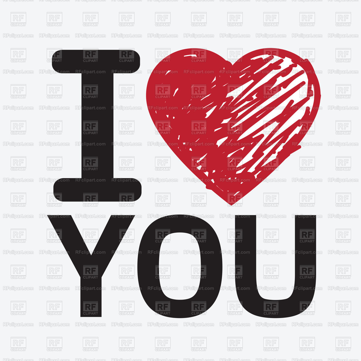 1200x1200 I Love You Vector Image Vector Artwork Of Fonts Amp Type Tumdee