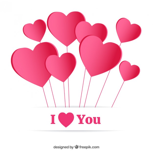626x626 I Love You Card Vector Free Download