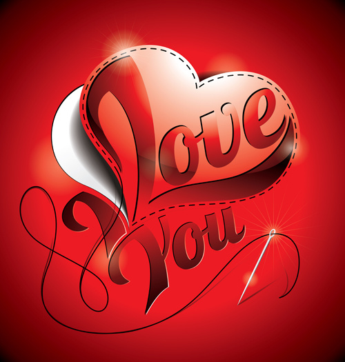 500x525 I Love You Heart Card Vector Free Vector In Encapsulated