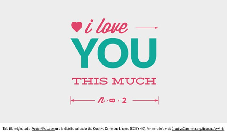 749x442 Free Love You Vector Typographic Message Psd Files, Vectors