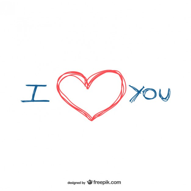 626x626 I Love You Scribble Vector Free Download