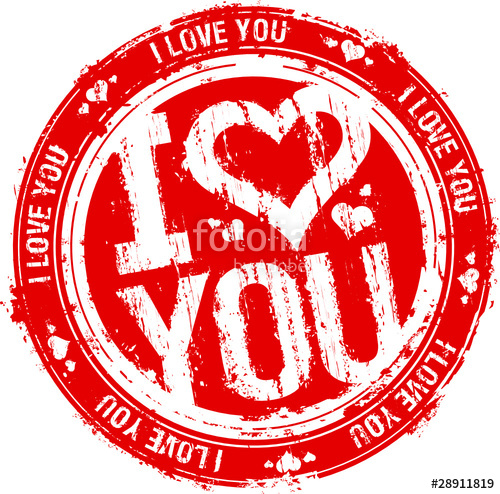 500x494 I Love You Vector Rubber Stamp. Stock Image And Royalty Free