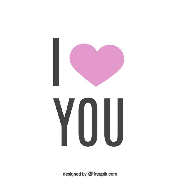 626x626 Minimalist I Love You Vector Free Download