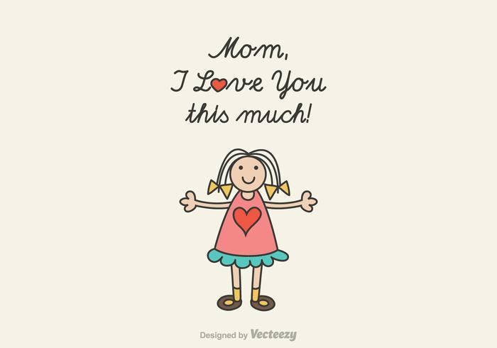 700x490 Free Mom I Love You Vector Illustration