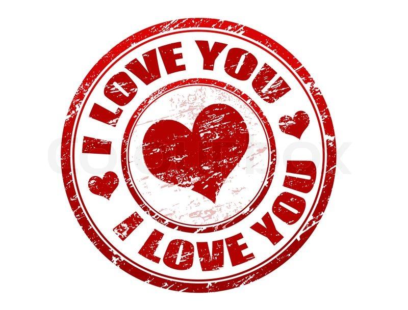 800x609 Postal Stamp I Love You Stock Vector Colourbox