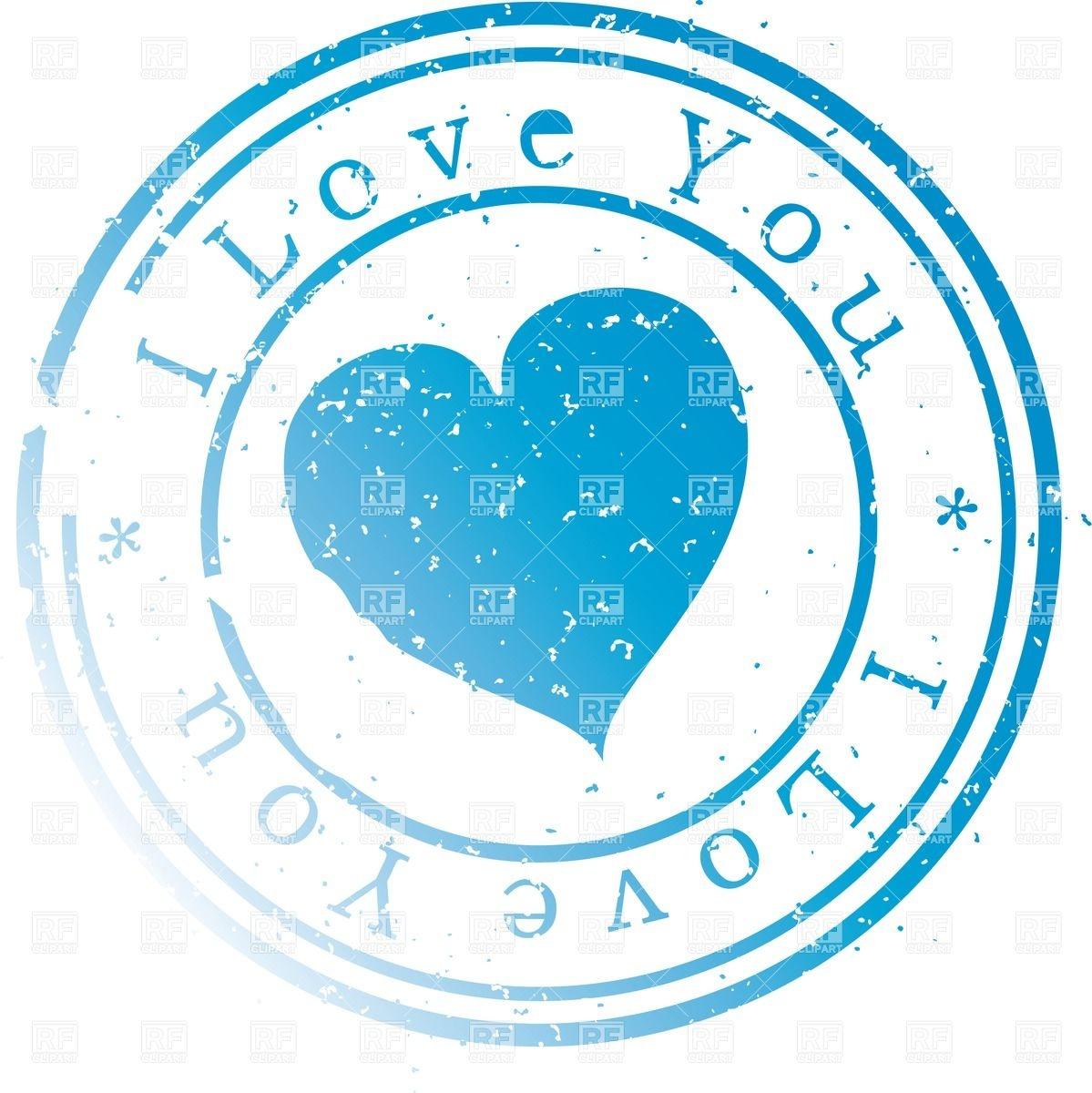 1199x1200 Stamp I Love You Vector Image Vector Artwork Of Design Elements