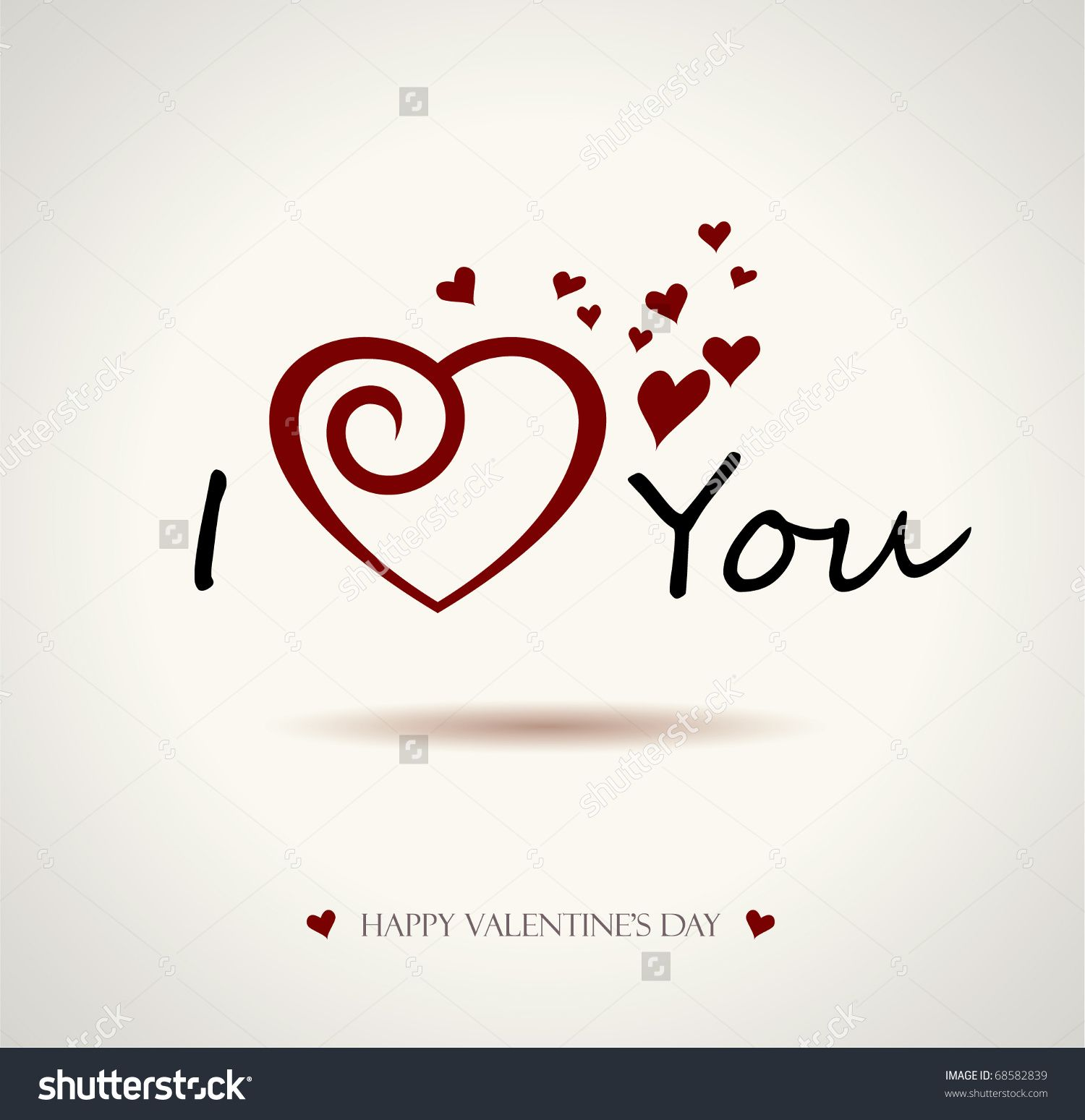 1500x1549 Valentine I Love You Vector Lettering Stylish Text