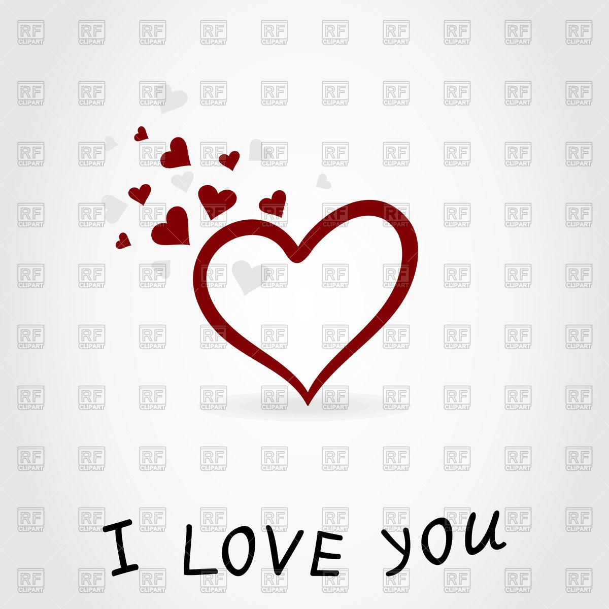 1200x1200 Heart And Inscription I Love You Vector Image Vector Artwork