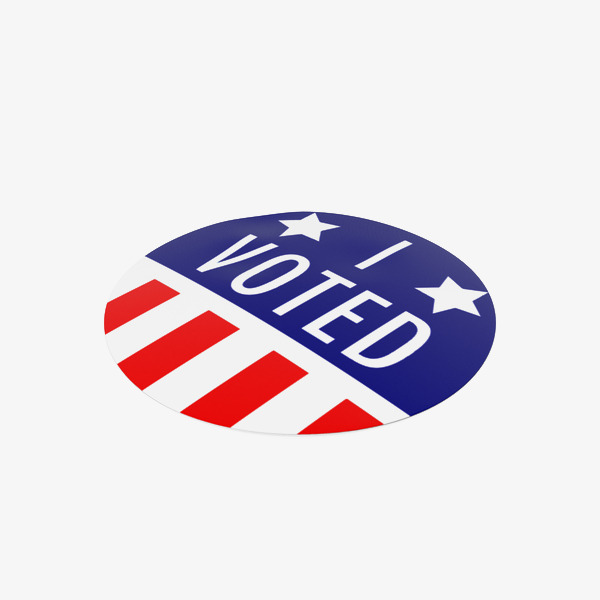 600x600 I Voted Stickers, I Voted, Sticker, United States Png Image And