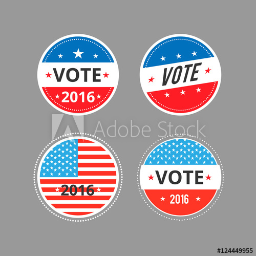500x500 Vector Illustration Of Voted Stickers,signs