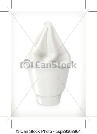 342x470 Ice Cream In The Cup. Soft Ice Cream In The Cup, Vector Icon