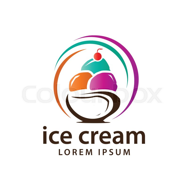 800x800 Colorful Ice Cream Logo, Colorful Ice Cream Balls Within Bowl
