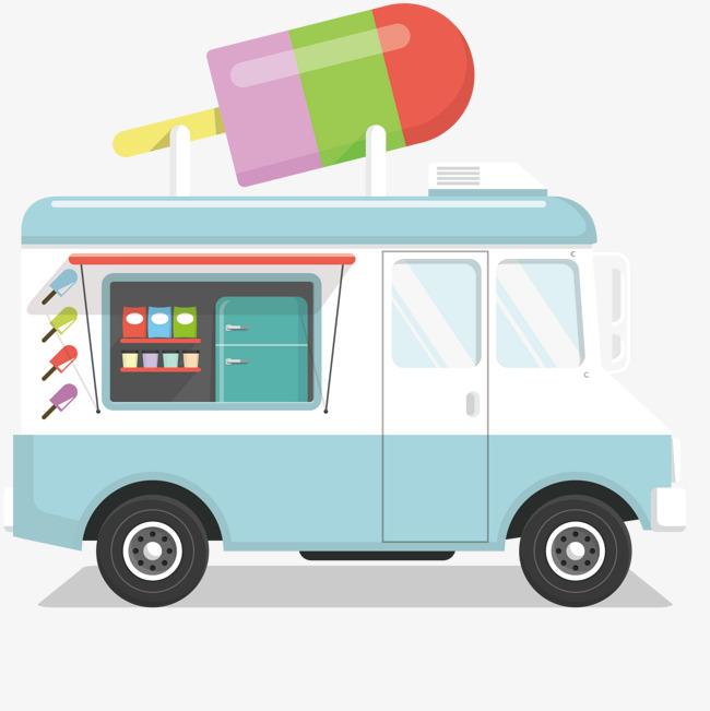 650x651 Ice Cream Truck Design, Ice Vector, Truck Vector, Truck Clipart