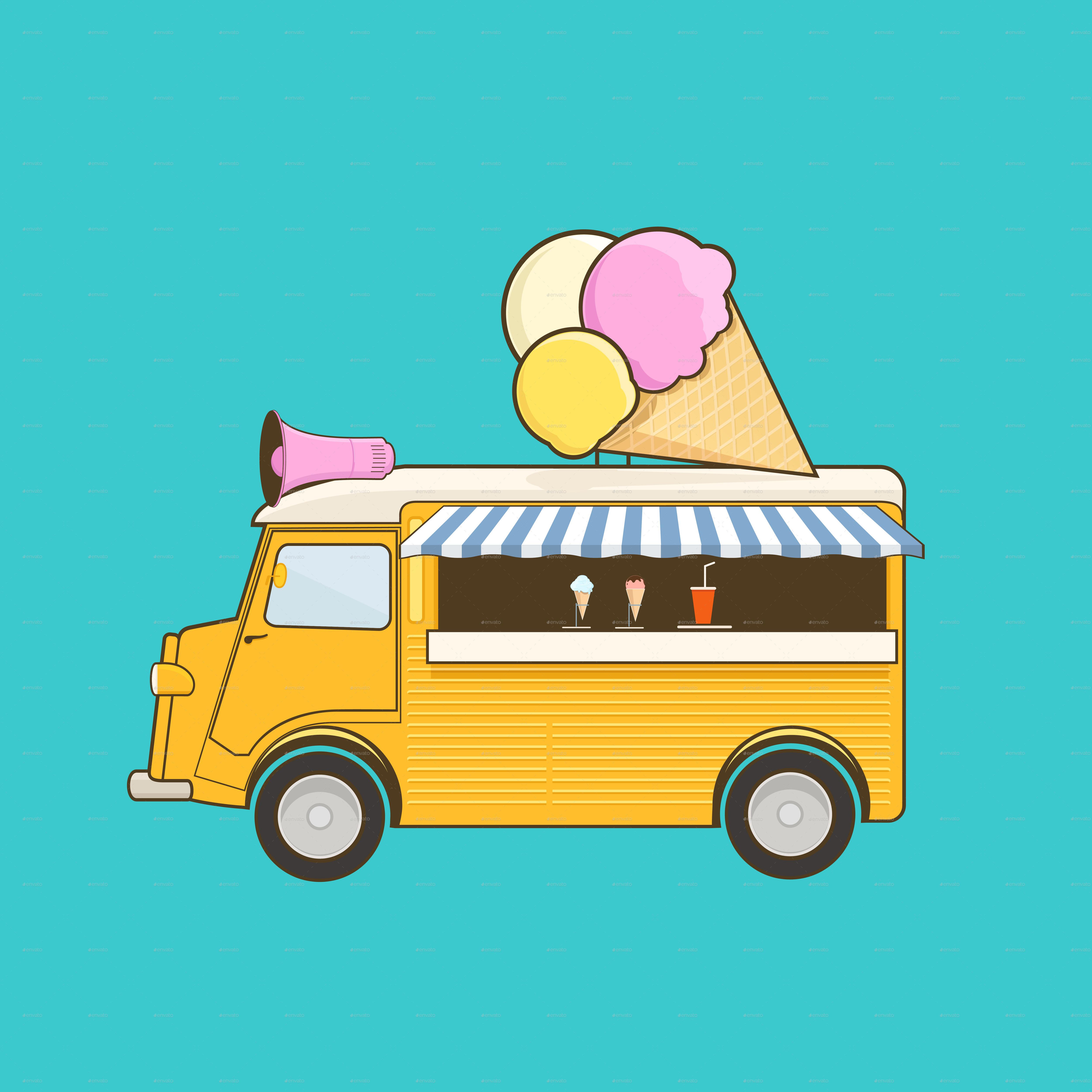 5000x5000 Ice Cream Truck By Sabina S Graphicriver