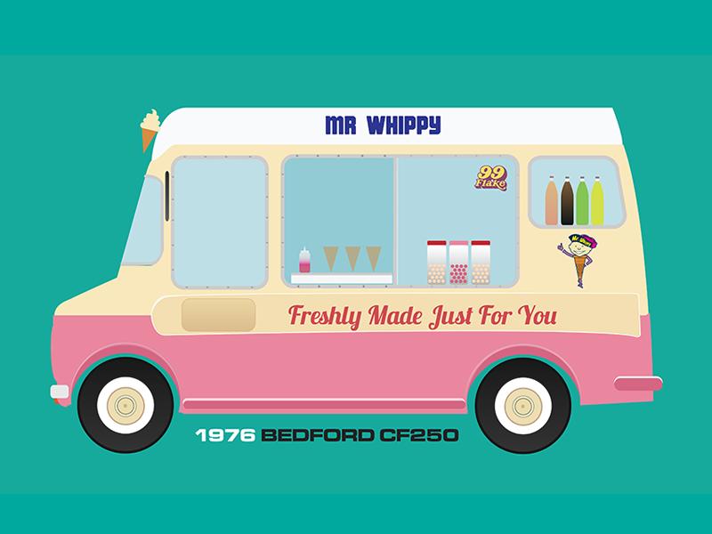 800x600 Bedford Ice Cream Van By Garry Mccormack