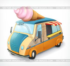 300x282 Ice Cream Truck, Icon