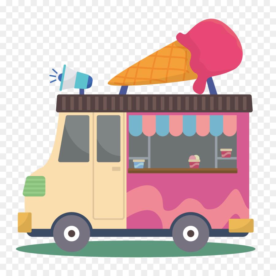 900x900 Ice Cream Van Car