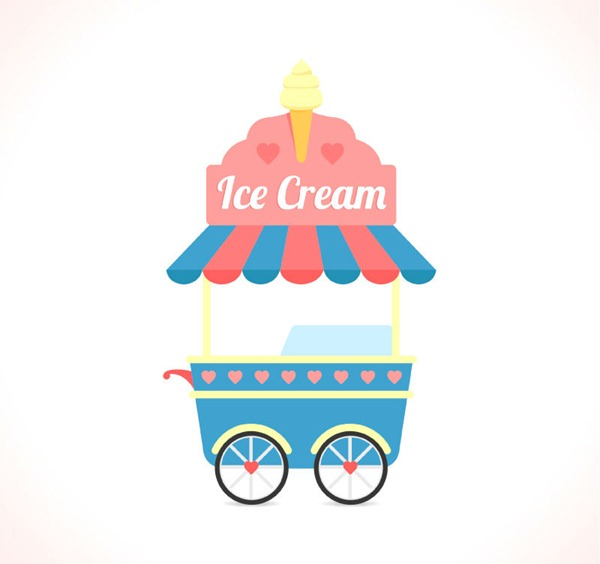 600x564 Cartoon Ice Cream Truck Vector Graphics My Free Photoshop World