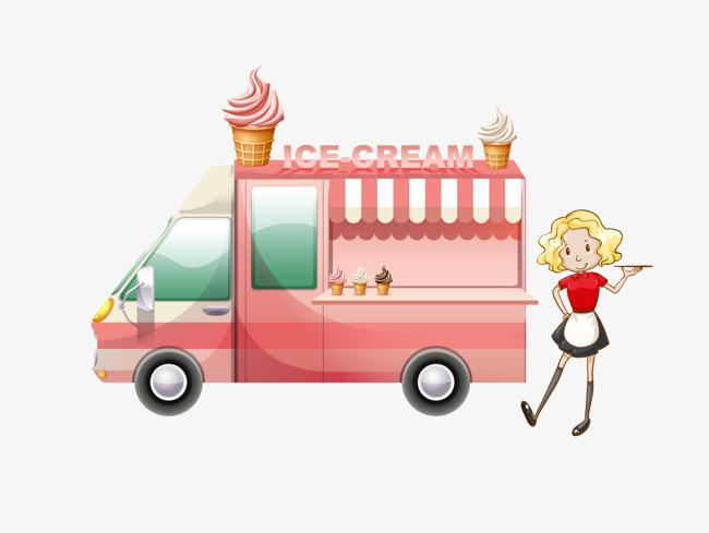 650x489 Vector Ice Cream Truck, Ice Vector, Truck Vector, Truck Clipart