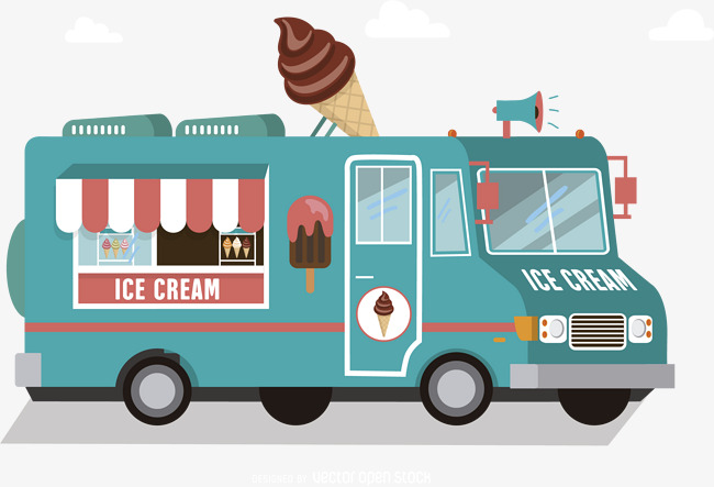 650x443 Vector Ice Cream Truck, Truck Clipart, Ice Cream Truck, Pink Png