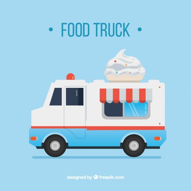 626x626 Vintage Ice Cream Truck Vector Free Download