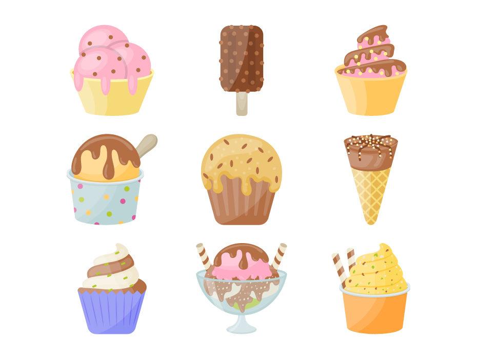 930x700 Ice Cream Vector Icons Frebers