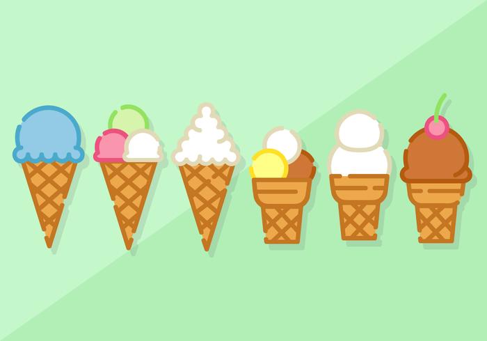 700x490 Free Minimalist Ice Cream Vector