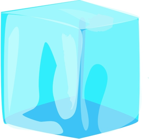 597x557 Ice Cube Vector Png