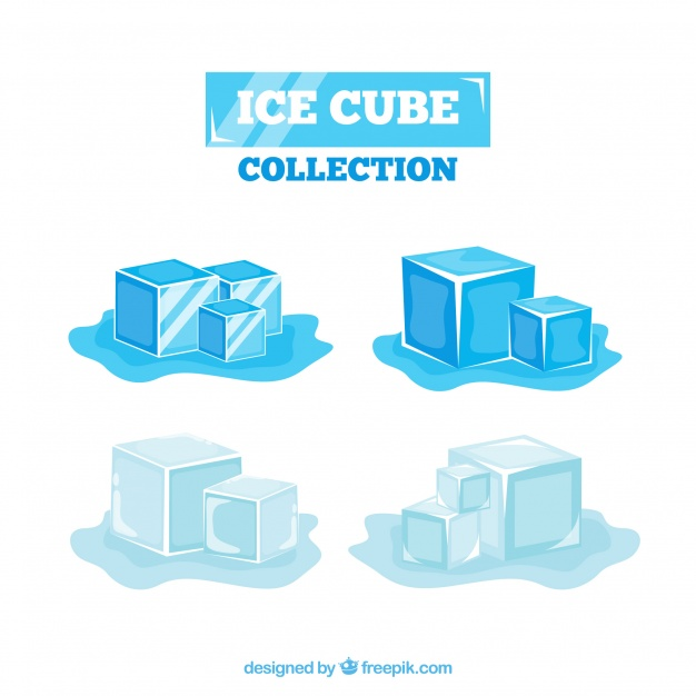 626x626 2d Ice Cube Collection Vector Free Download