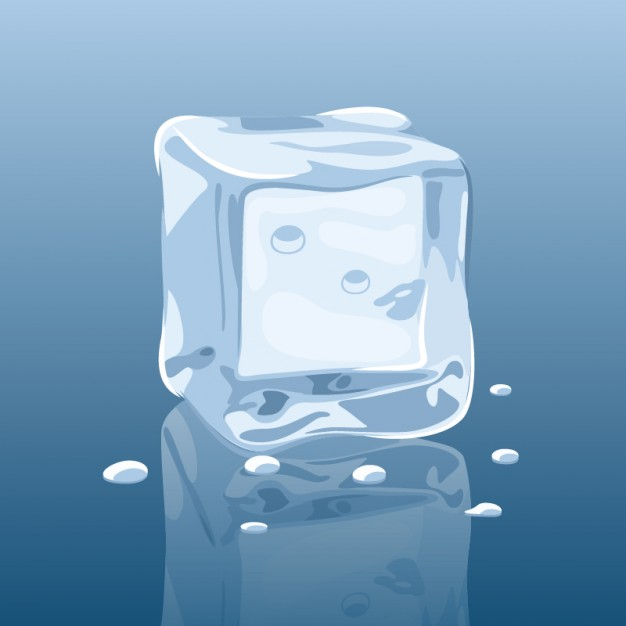 626x626 Melting Ice Cube Vector Vector Free Download