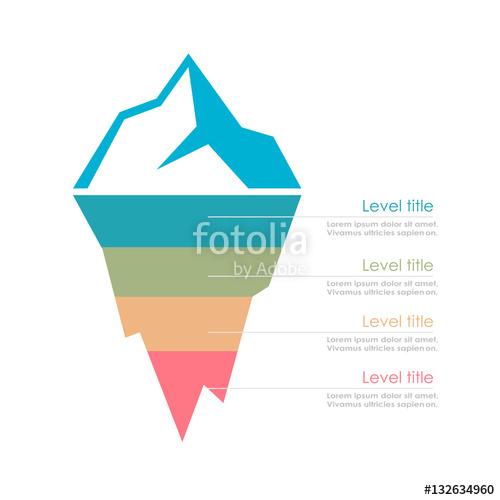 500x500 Risk Analysis Iceberg Vector Layered Diagram Stock Image And