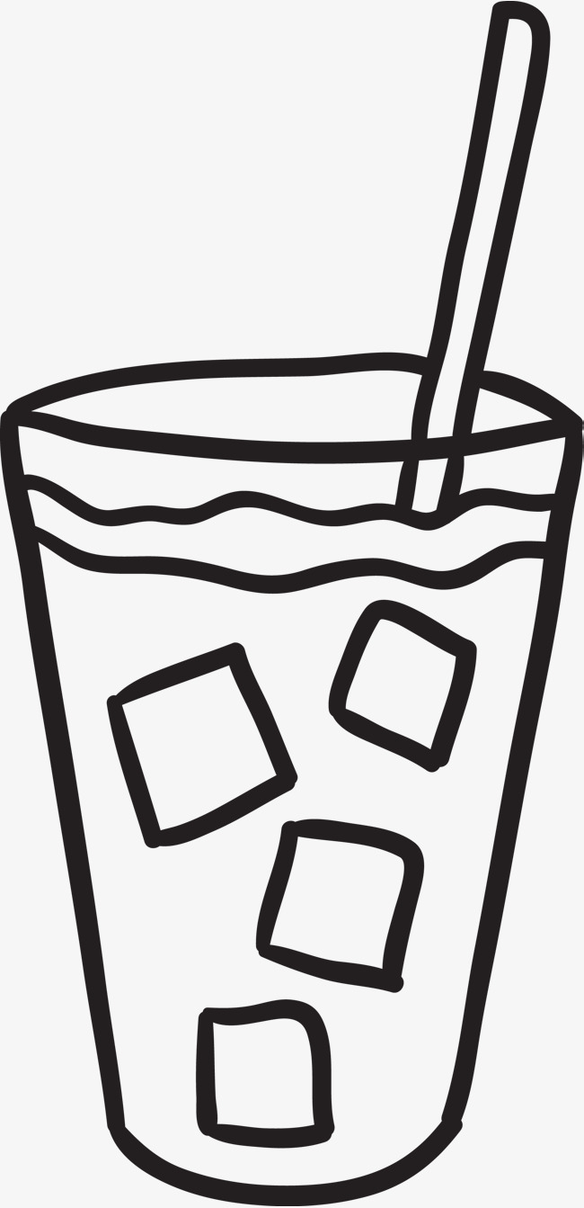650x1343 Hand Painted Iced Coffee, Coffee, Coffee Brush, Brief Strokes Png