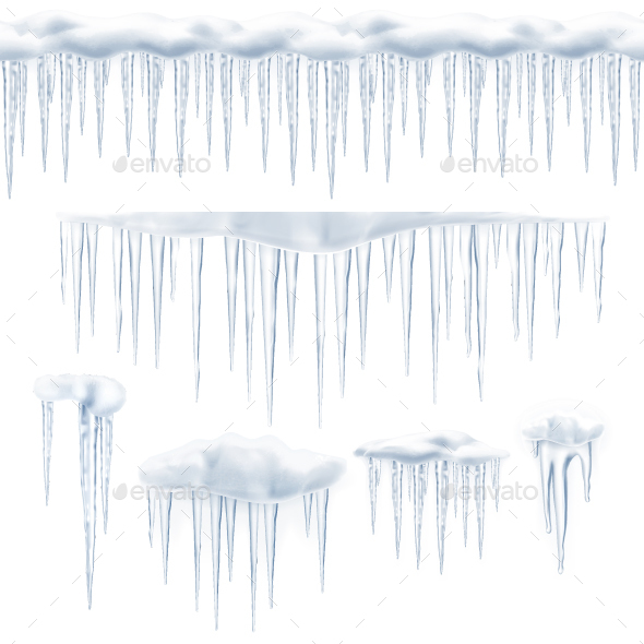 590x590 Icicles Vector Icons By Allevinatis Graphicriver