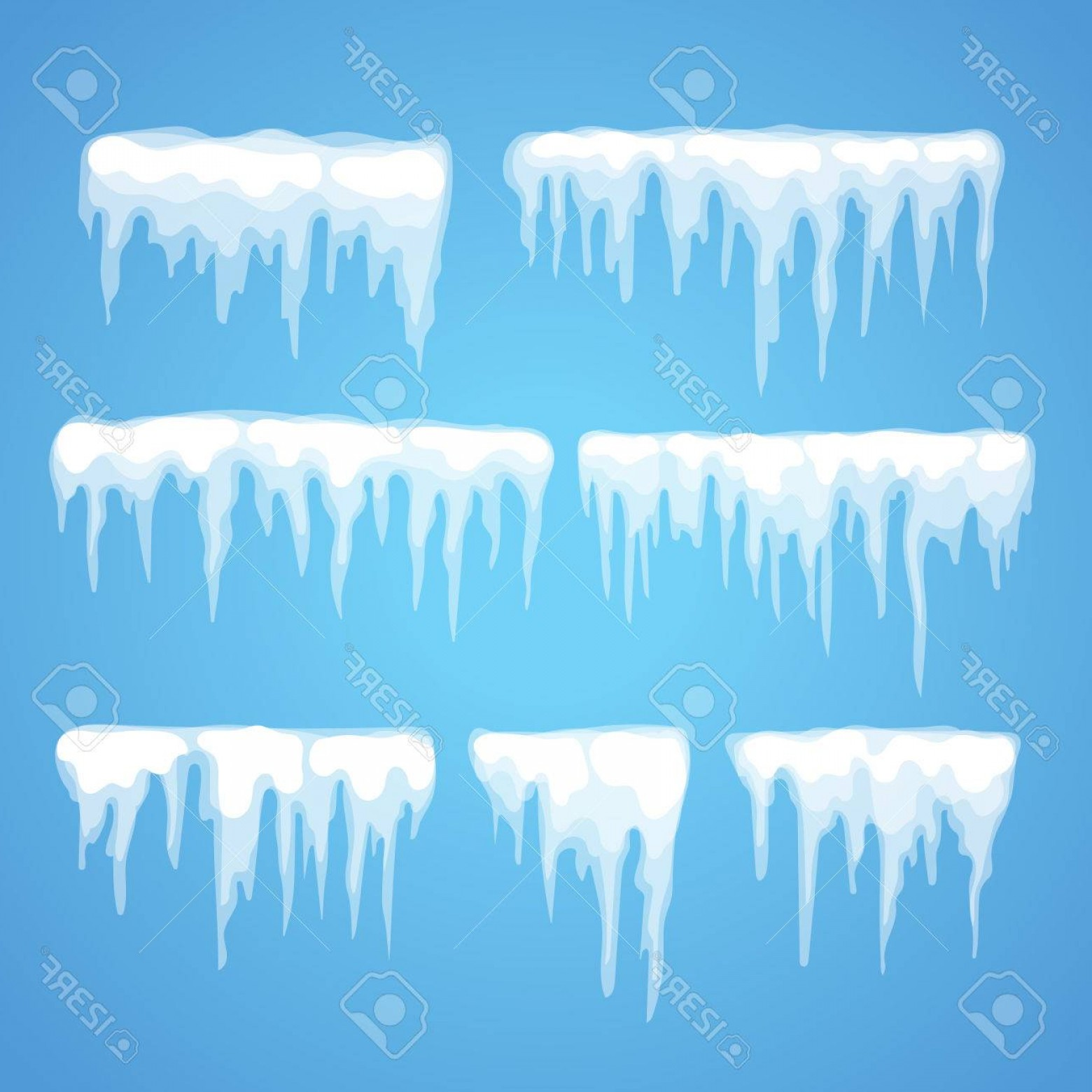 1560x1560 Photostock Vector Vector Icicle And Snow Elements Clipart