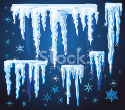 500x440 Set Of Blue Icicles Stock Vector