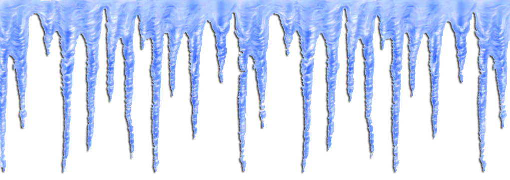 1021x360 Snow Clipart Icicle